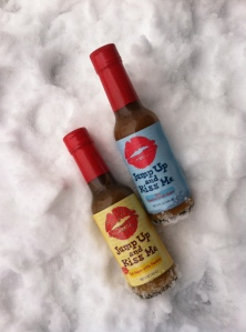 hot sauce in snow